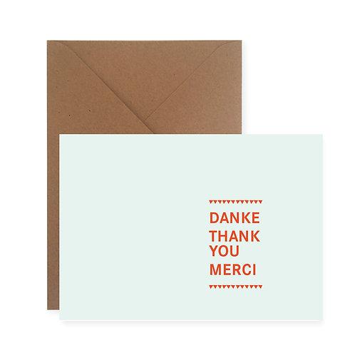 Postkarte – Danke