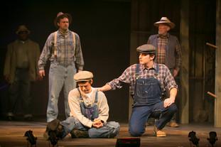 Tom Joad with Pa (Derek Boemler), Noah and Uncle John (Robert Orth)