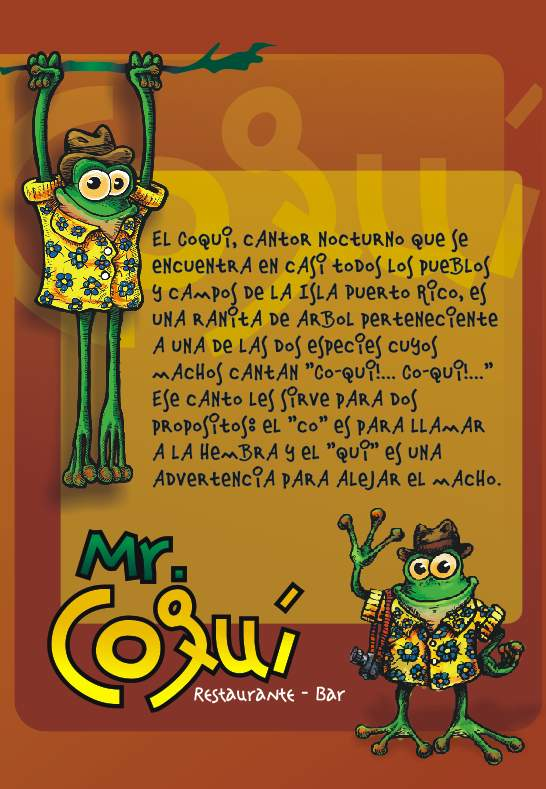 Poster Mr. Coquí -  Villa de Leyva