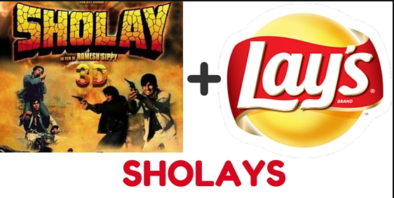 Lays branding with Sholay movie