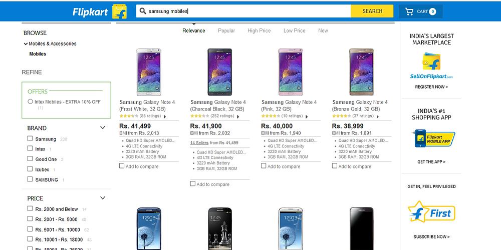 Samsung mobile phones online