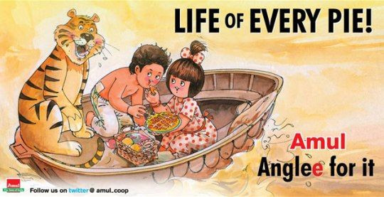 Life of Pie ad by Amul
