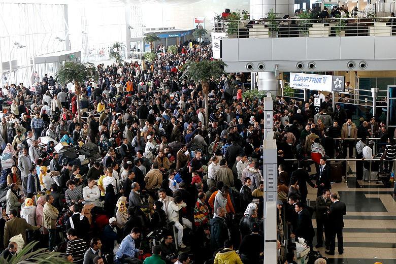 Chaos at Egypt airport