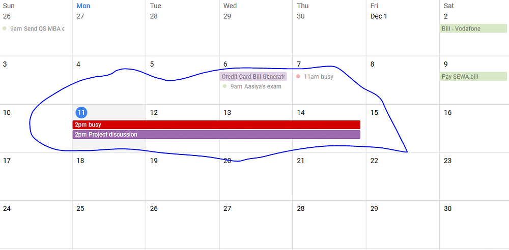 Booking the appointments in google calendar