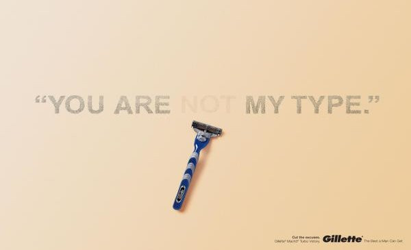 Gillette funny print ad