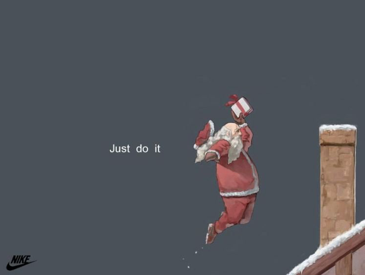 Nike Santa Claus ad for Christmas