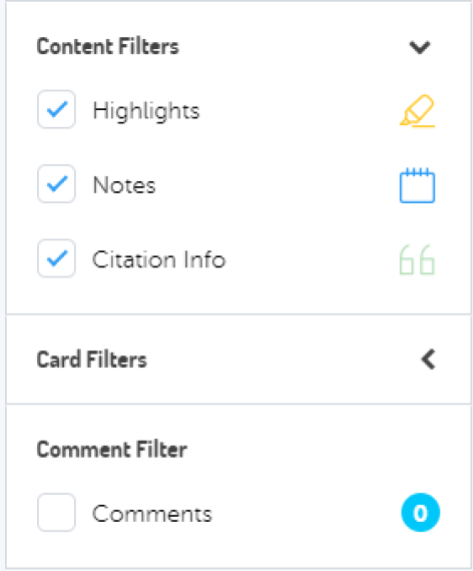 Filter the right content in research