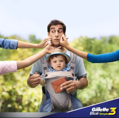 Gillette is making Fathers a bit cuter than the Babies