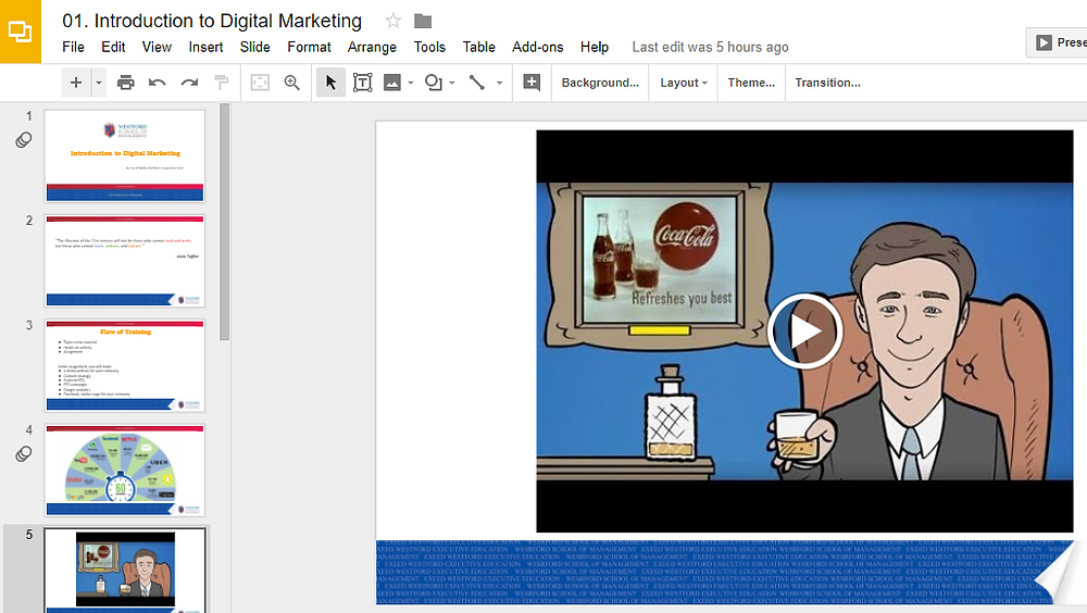 Adding YouTube video in Google Slide