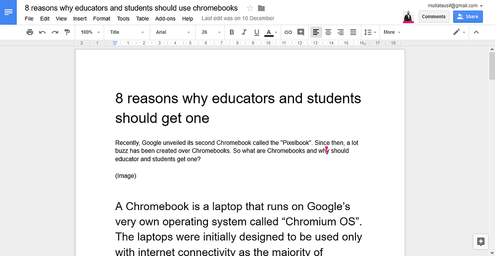 Google docs for college students and professors