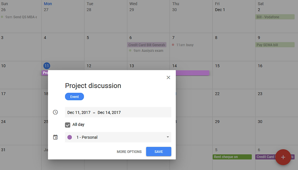 Open appointment slots in google calendar