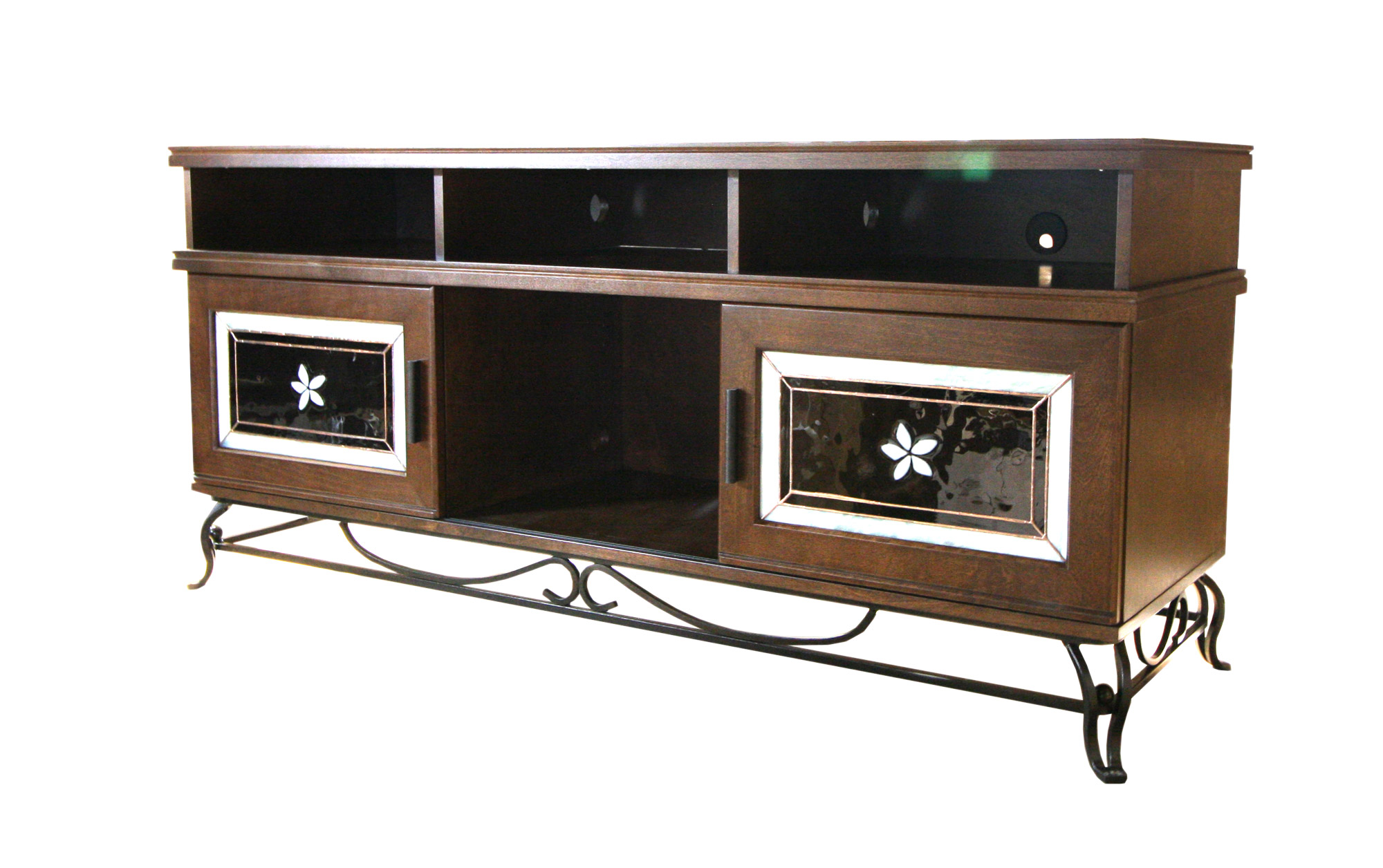 TV UNTI WITH STAINED GLASS DOORS