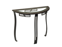 SOFA TABLE GLASS AND BIRCH