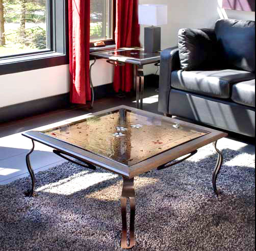COFFEE TABLE FUSED GLASS