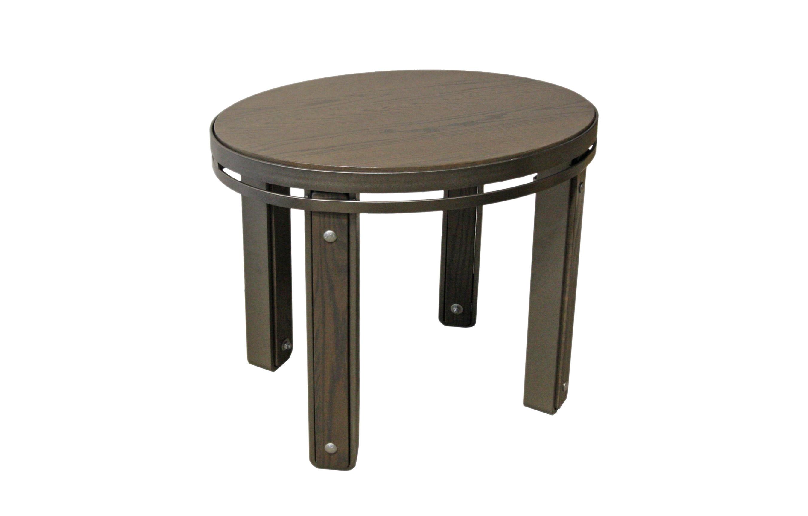 TABLE DE BOUT OVALE