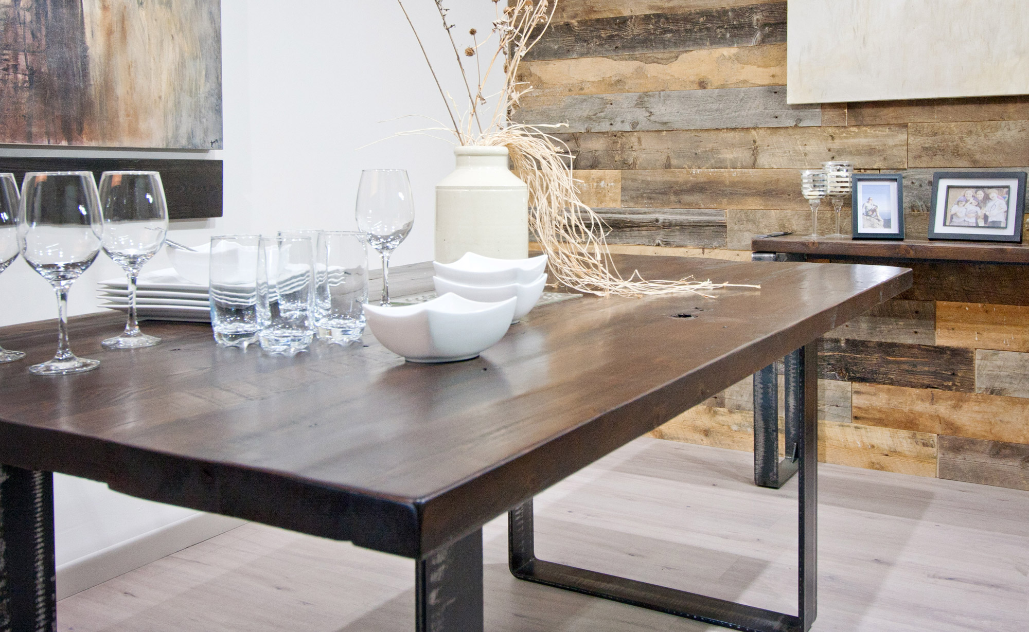 DINING TABLE BARN WOOD