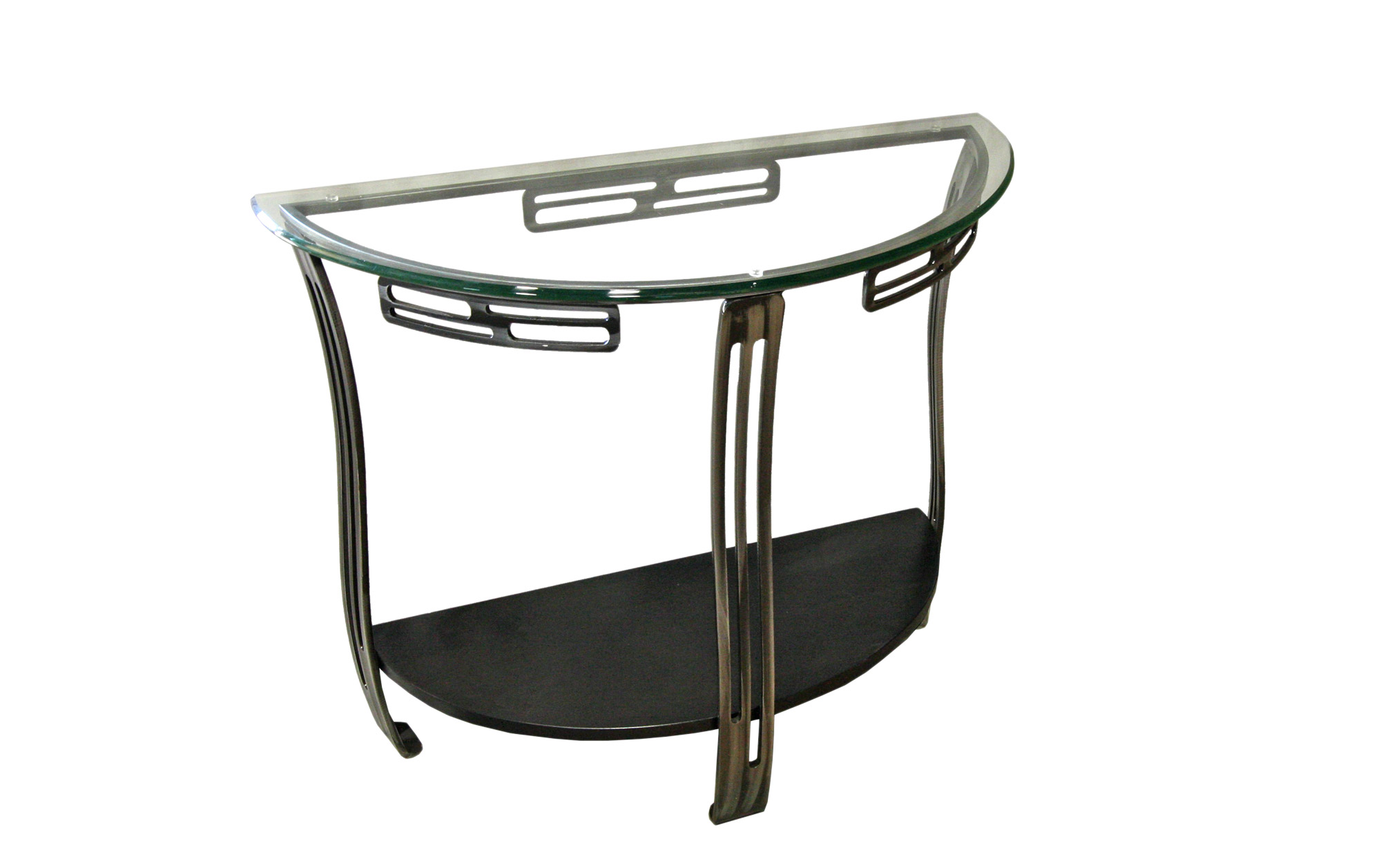 SOFA TABLE GLASS WITH SHELF