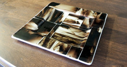 FUSED GLASS PLATE SUSHI
