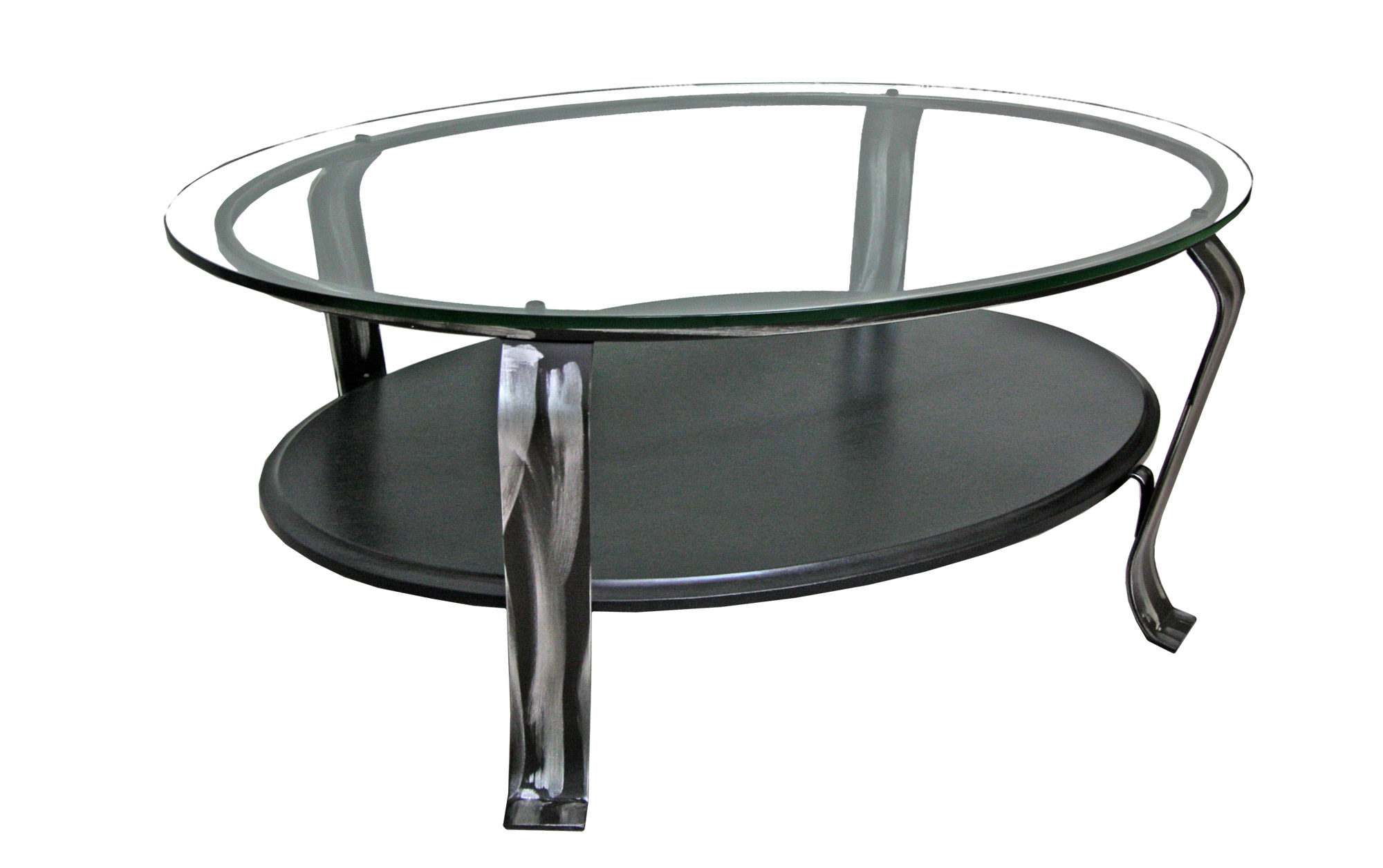 TABLE BASSE VERRE AVEC TABLETTE