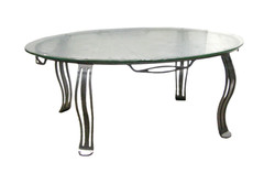 TABLE BASSE VERRE FOSSILE