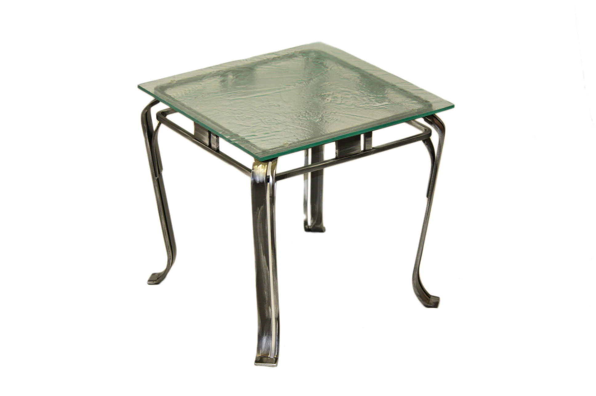 END TABLE GLASS FOSSIL
