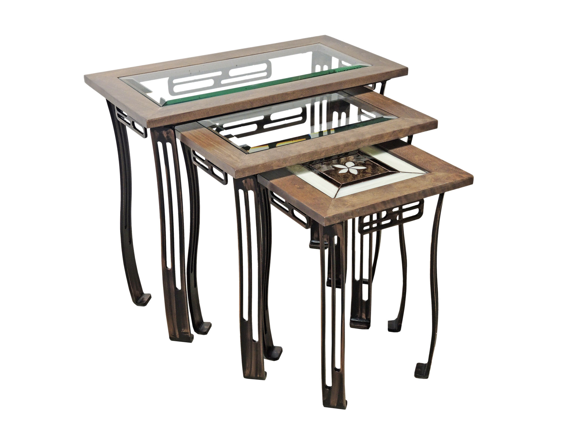 TABLES GIGOGNES VITRAIL