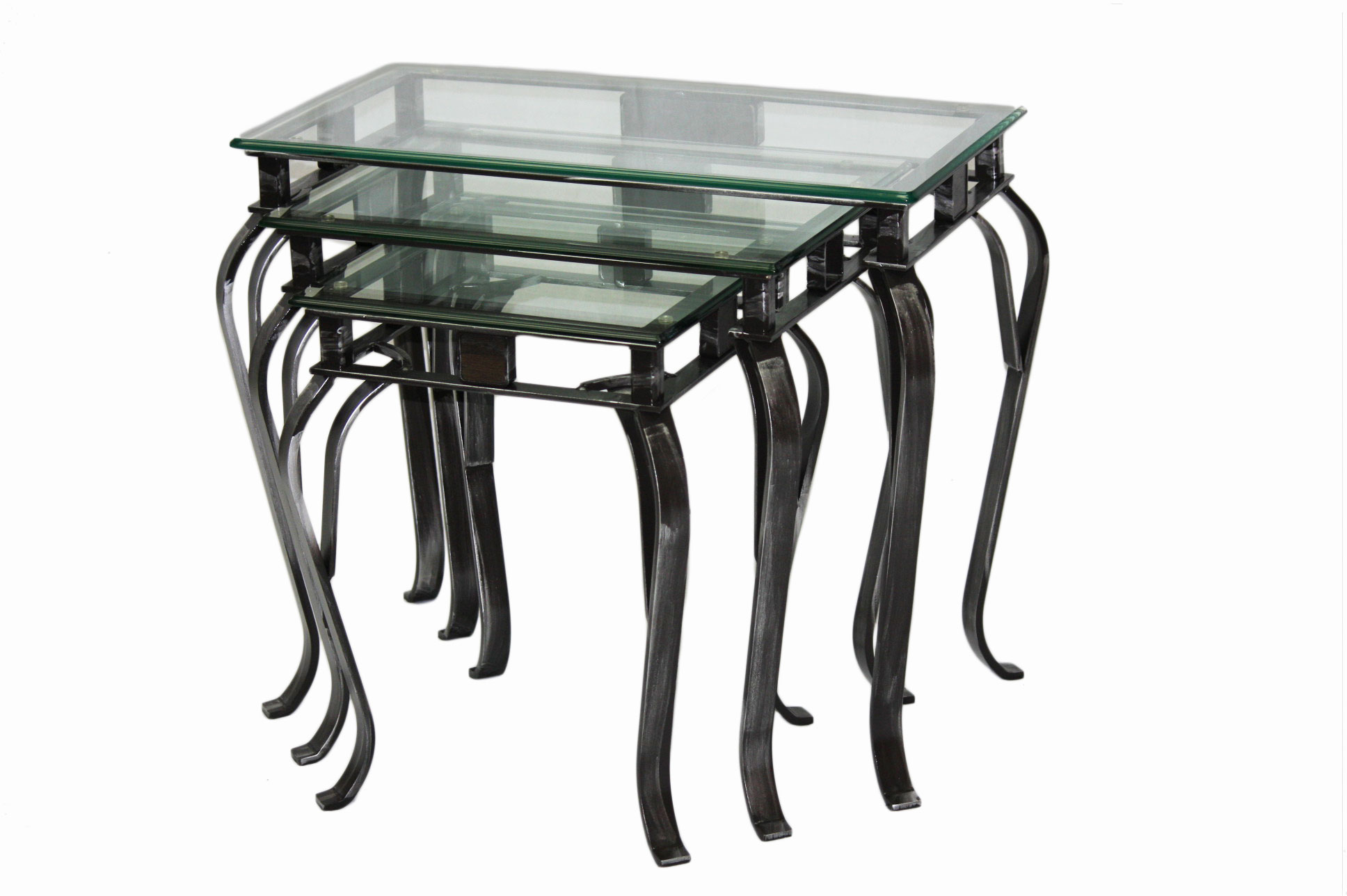 NESTING TABLES GLASS