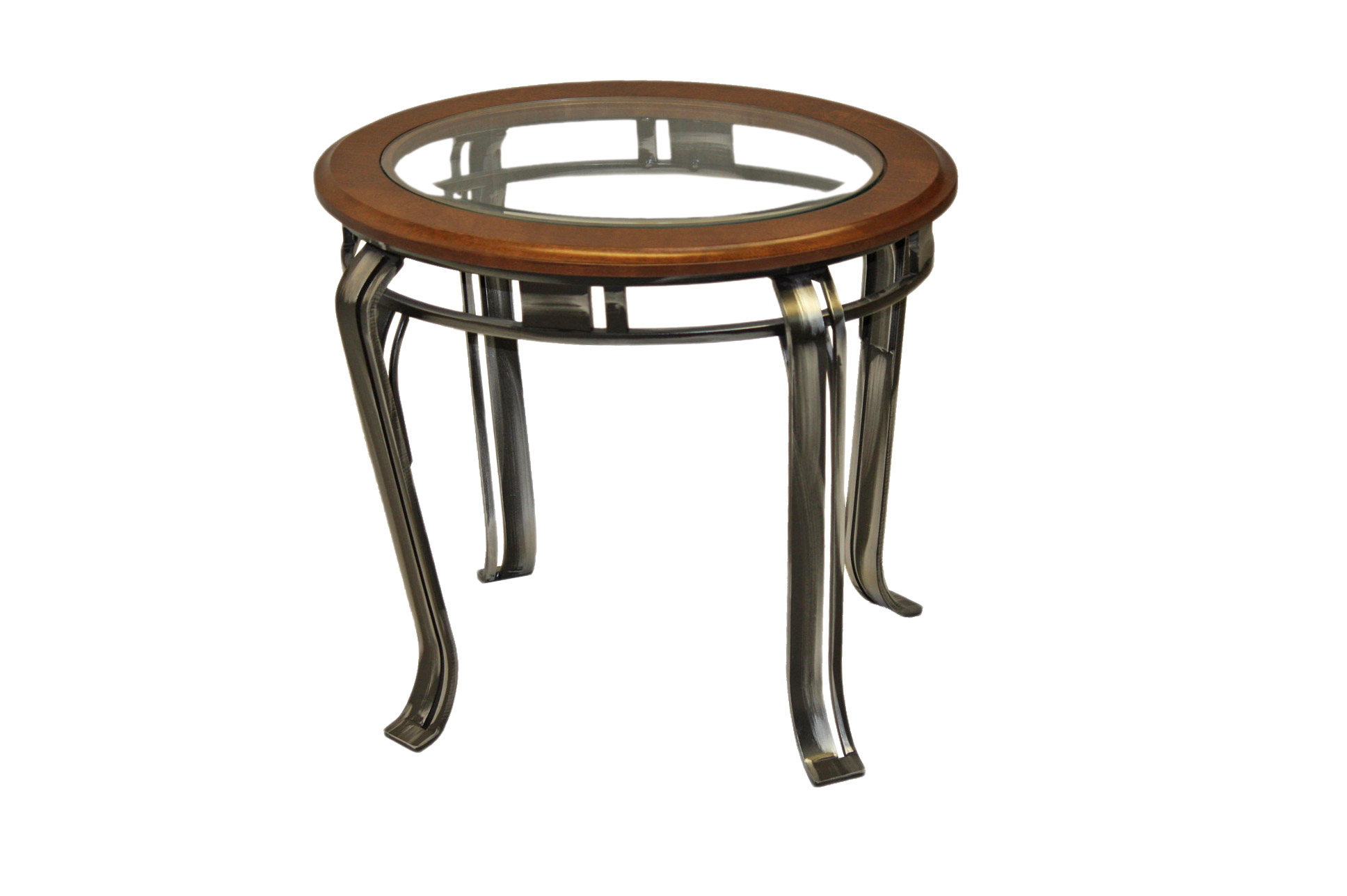 END TABLE GLASS BIRCH