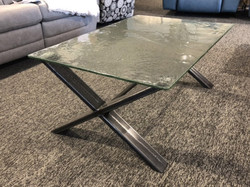 COFFEE TABLE GLASS FOSSIL