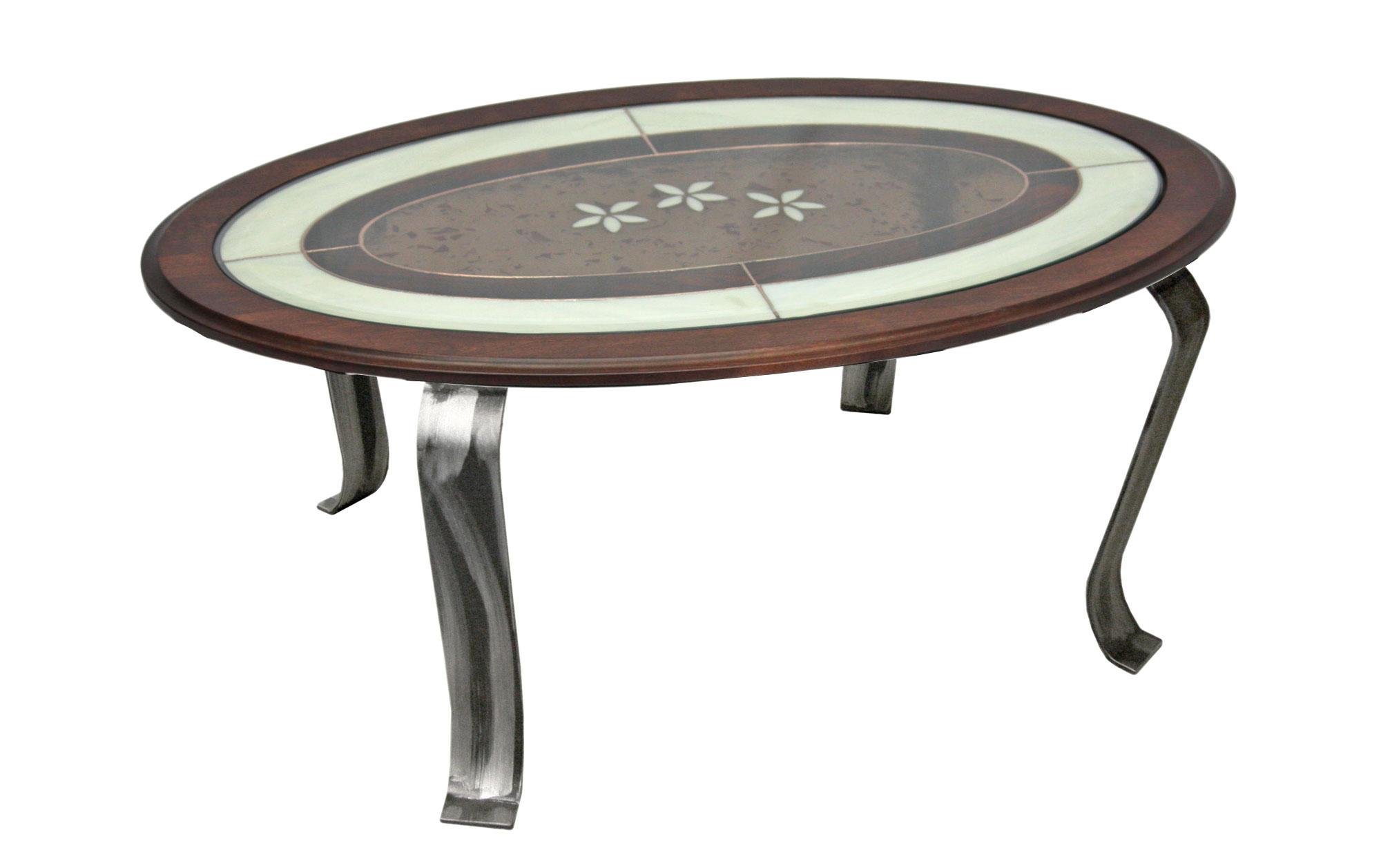 TABLE BASSE VITRAIL