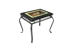 END TABLE STAINED GLASS