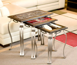 NESTING TABLES FUSED GLASS
