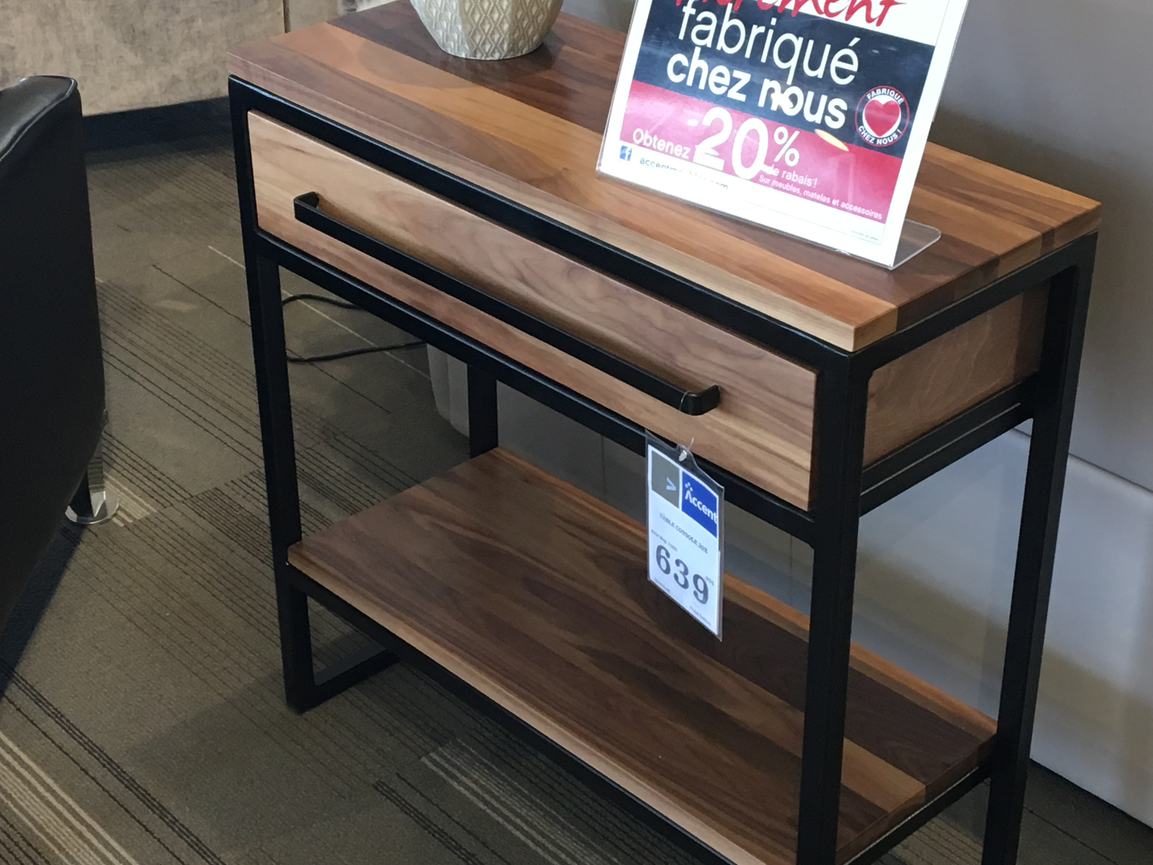 Table console Tubelle
