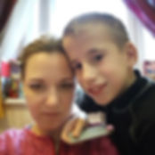 Евгения Питерская с учеником Матвеем. Ос