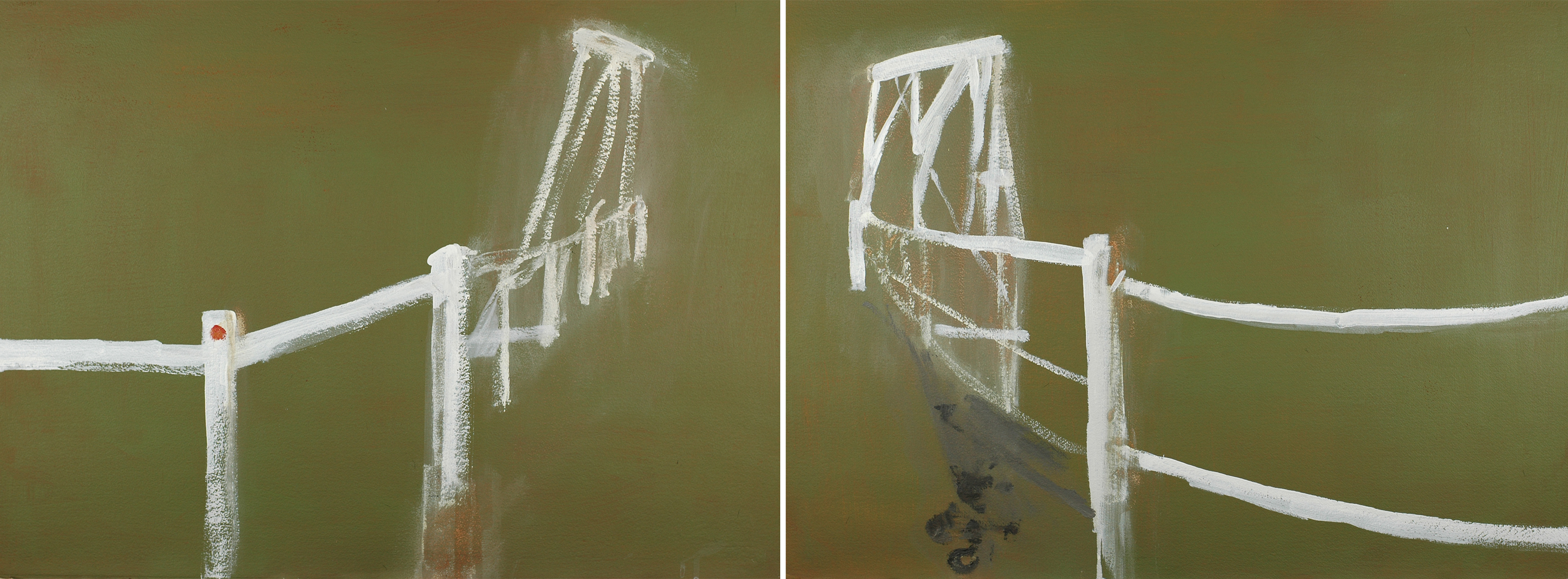 Towamba, Wooden Bridge Diptych, 2010