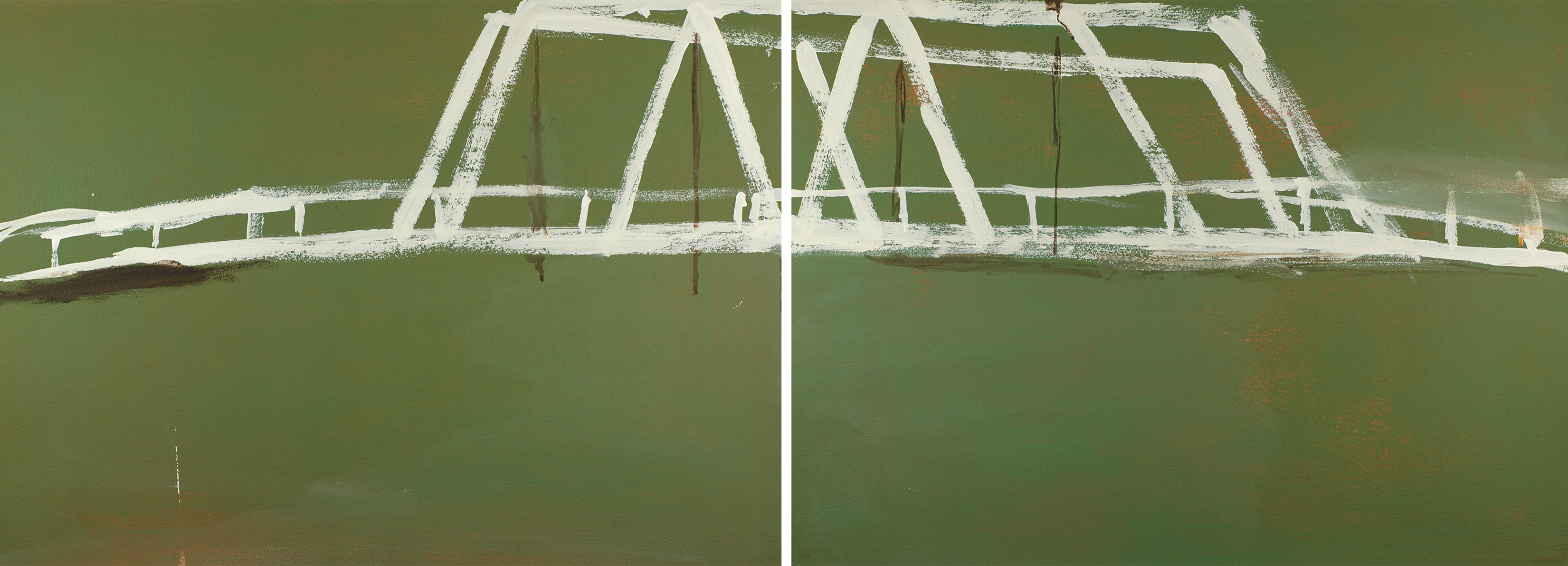 Wooden Bridge Diptych, 2010