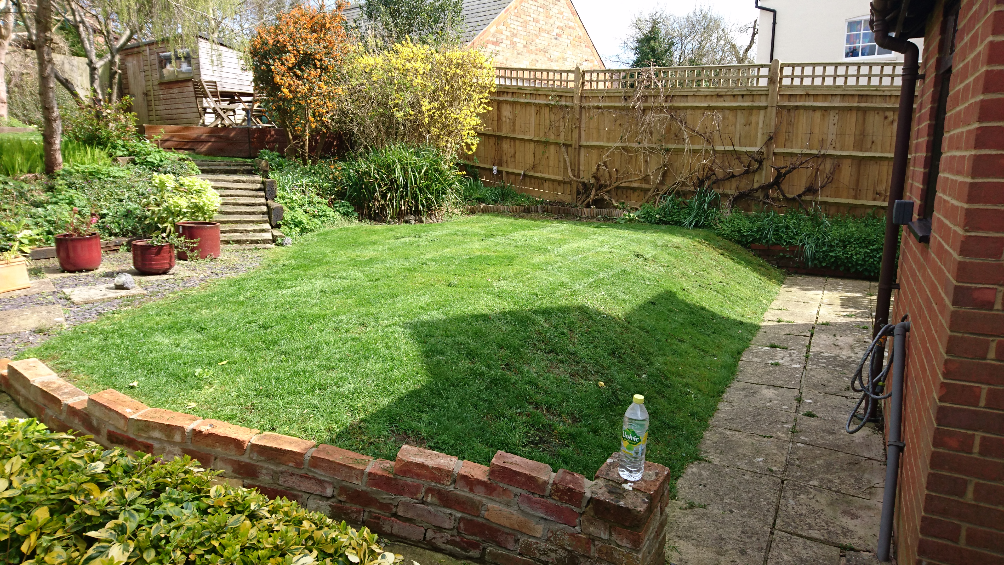 Lawn on a slope
