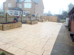 Newly laid patio