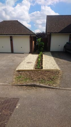 Front garden flower bed