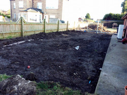 Clearing area for a patio