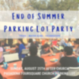 End of Summer Parking Lot Party- Square.