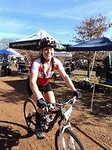 Nebile Erdmann mountain biking at an endurance race