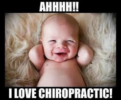 New born baby loves chiropractic