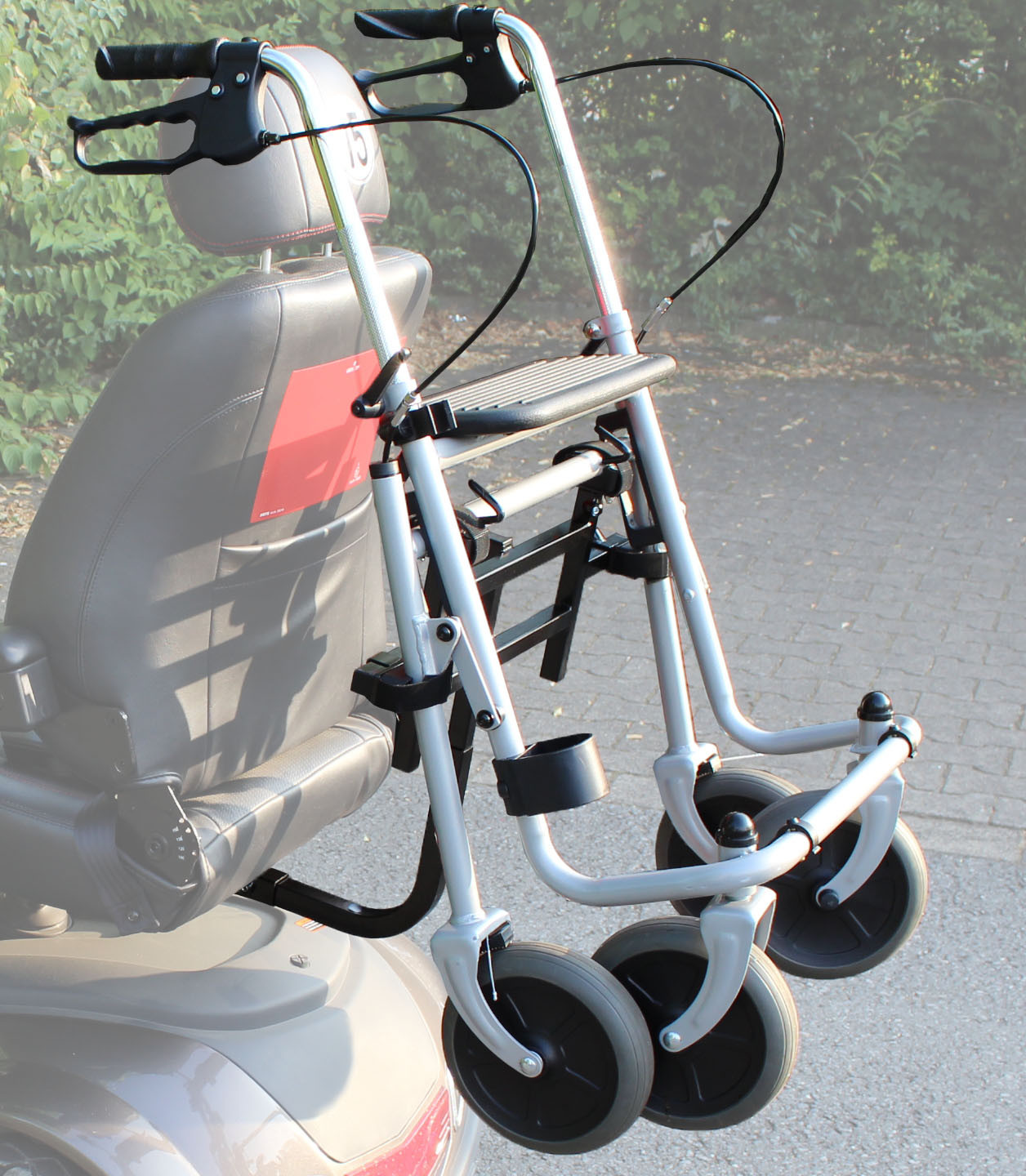 Rollator holder for mobility scooter, model SC-2