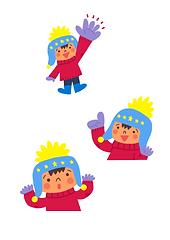 子ども 冬