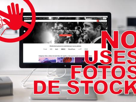 No uses imágenes de Stock en tu empresa.