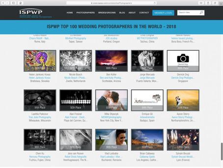Entramos en el TOP 100 de fotógrafos del mundo en ISPWP.