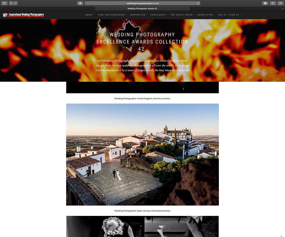 Arteextremeño, Fotografía de boda premiada internacionalmente