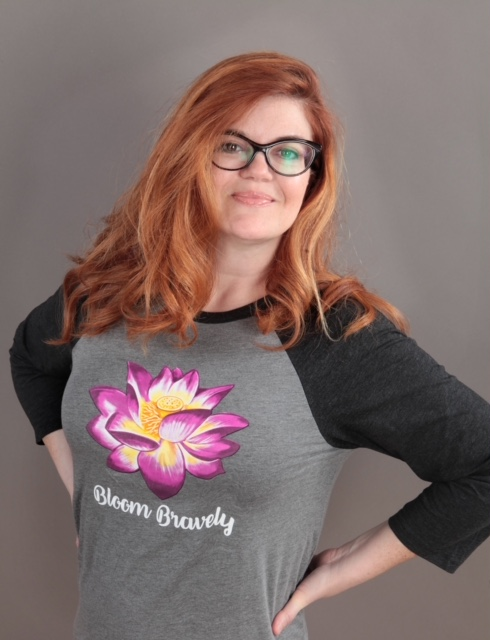Bloom Bravely Lotus Baseball Tee
