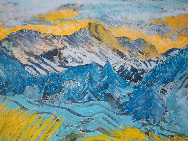 Cumbrian Moutains [etching_pastel]#6C89.